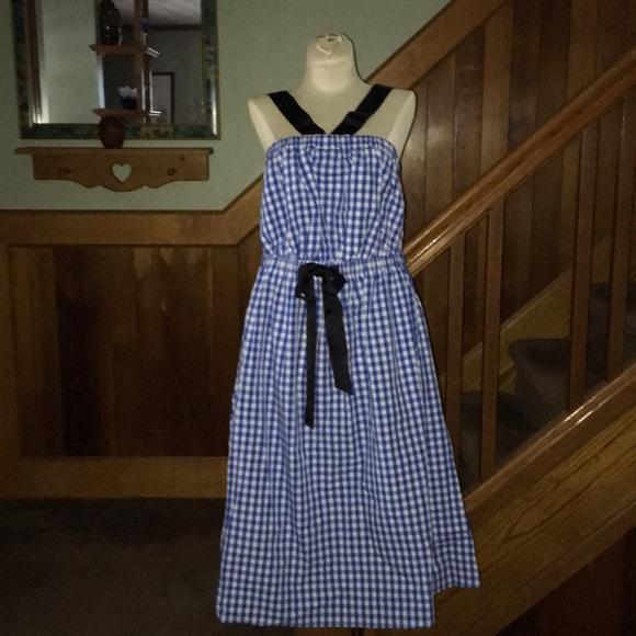 19777f57425 🍎NWT Eloquii Blue   White Gingham Dress